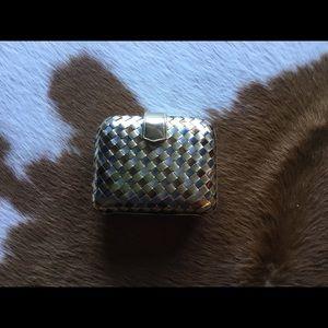 Metallic Woven Evening Bag